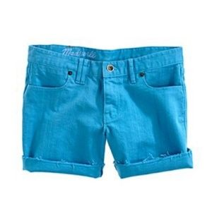 MADEWELL Jean shorts turquoise shorts